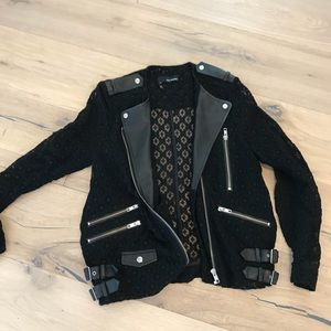 The kooples lace and leather jacket